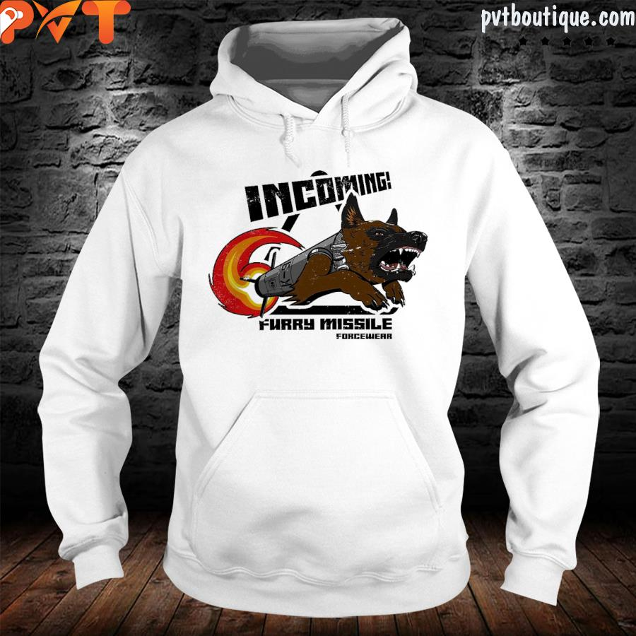 Incoming furry missile forcewear s hoodie-white