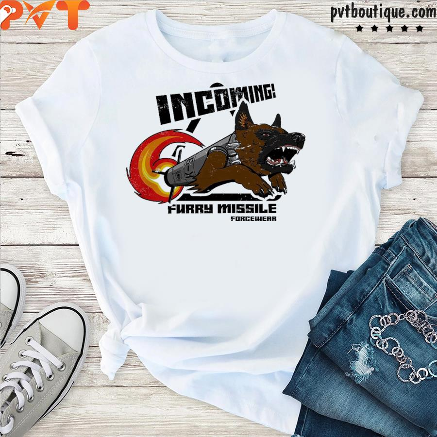 Incoming furry missile forcewear shirt