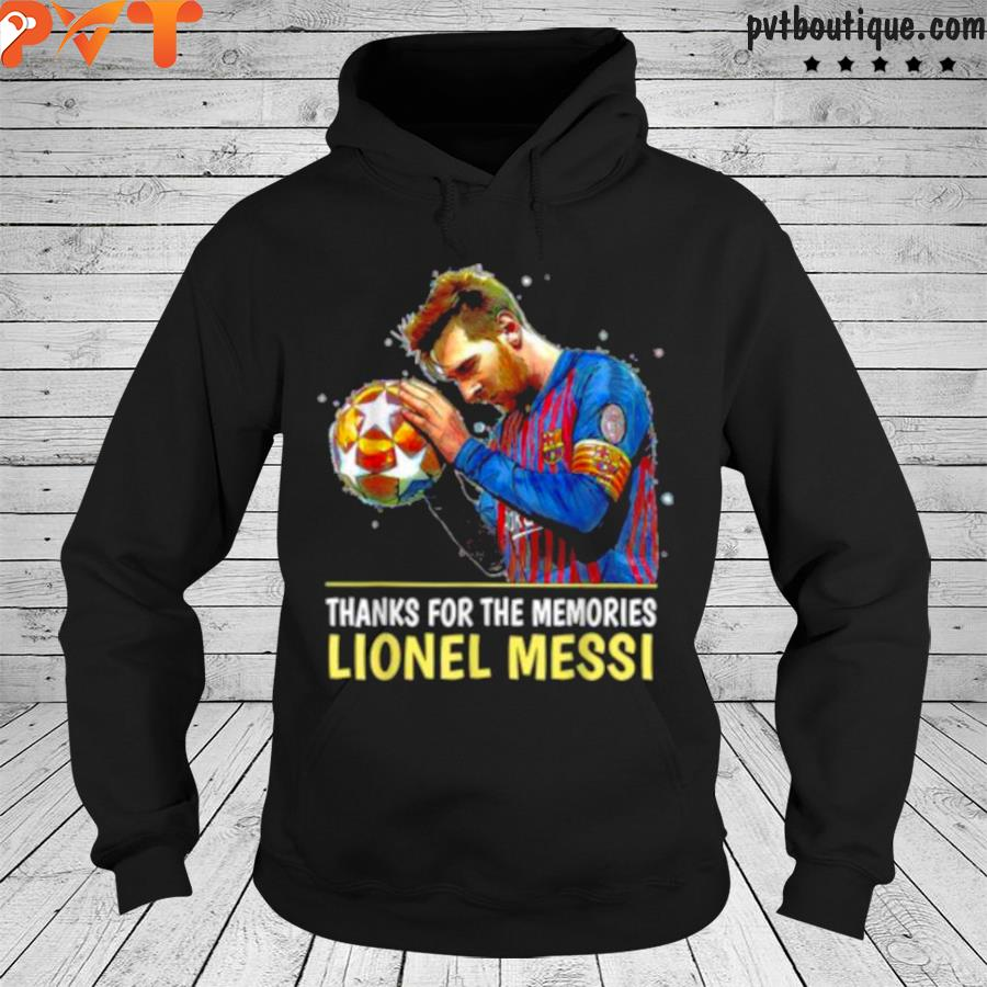 Thank you for the memories Leonel Messi 2000 2021 FC B Shirt hoodie-black
