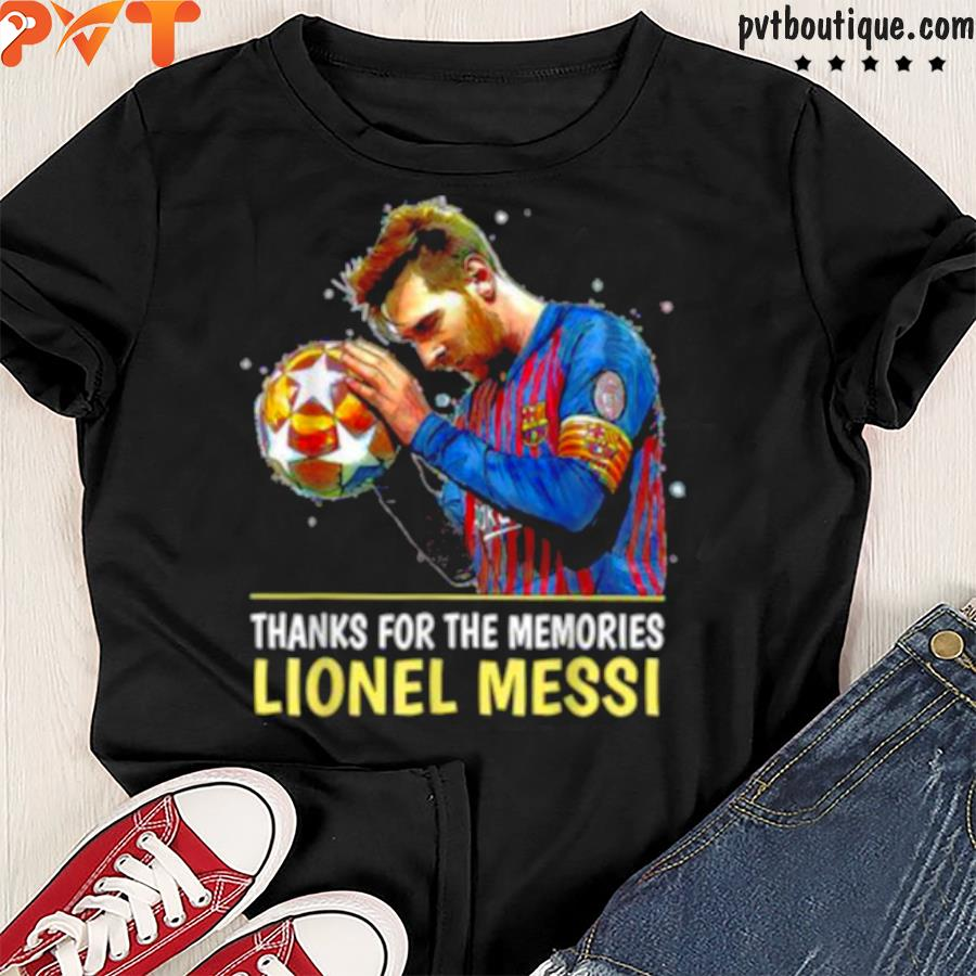 Thank you for the memories Leonel Messi 2000 2021 FC B Shirt